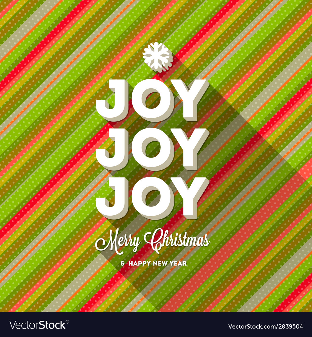 Christmas greeting with long shadow vector | Price: 1 Credit (USD $1)