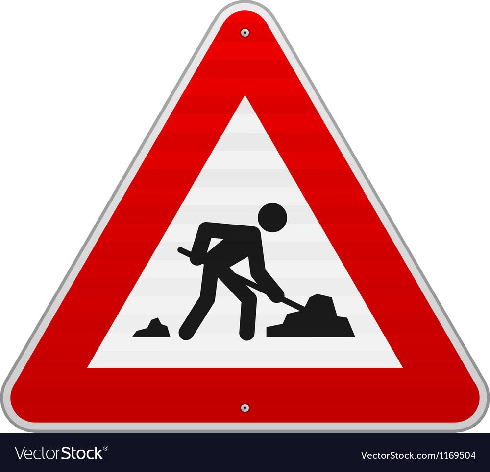 Construction road sign vector | Price: 1 Credit (USD $1)