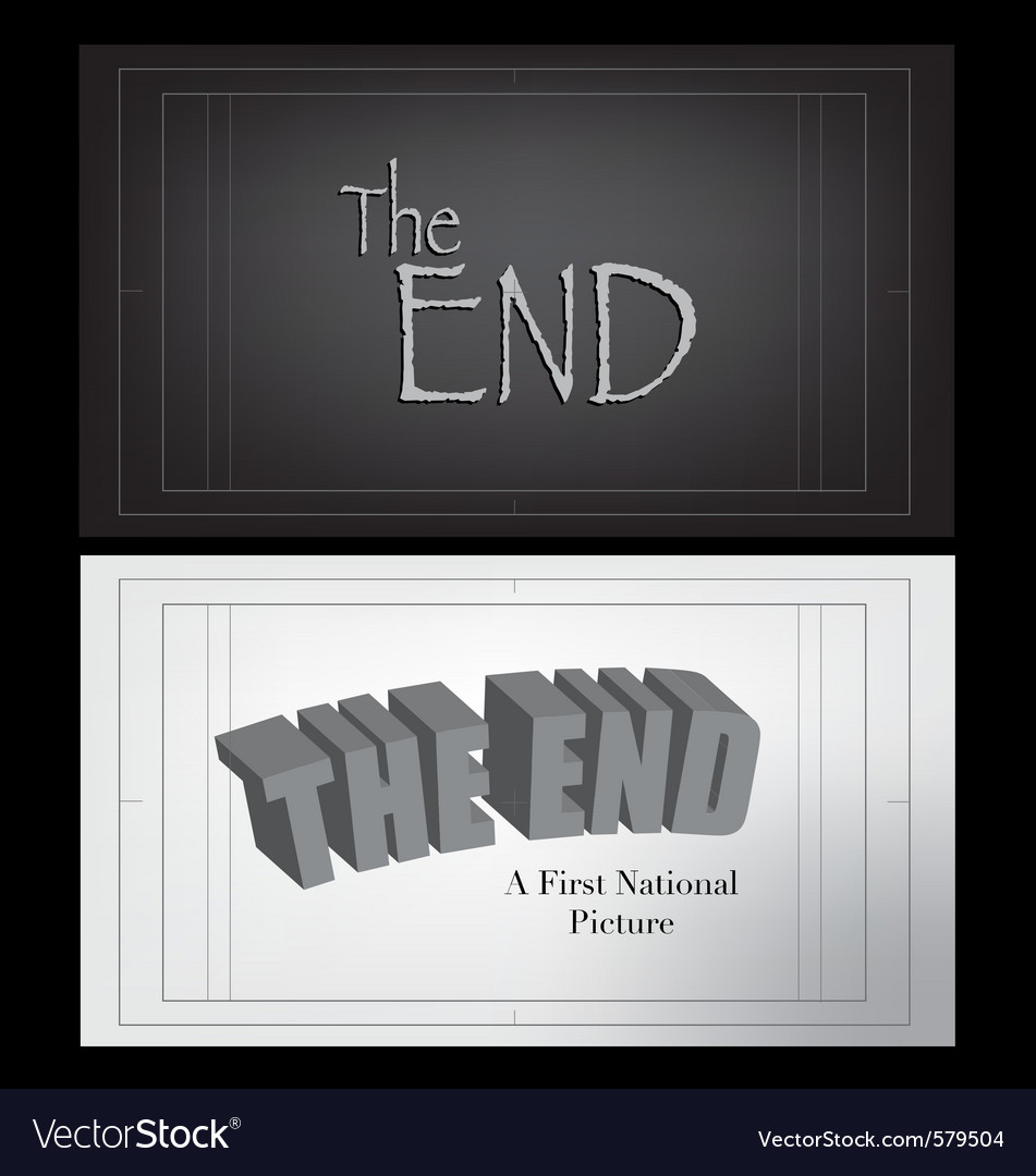 End credits vector | Price: 1 Credit (USD $1)