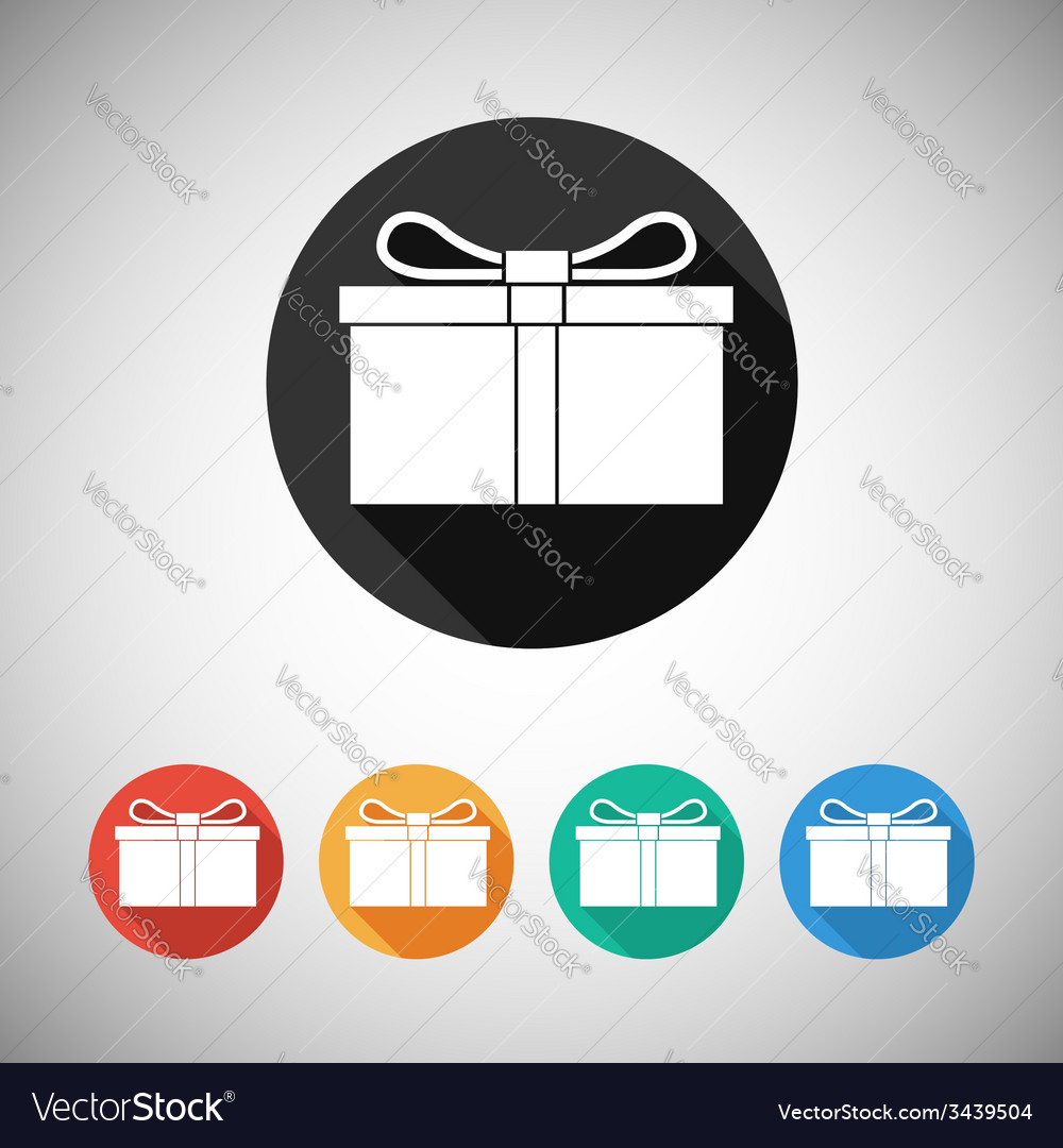 Gift box flat icons vector | Price: 1 Credit (USD $1)