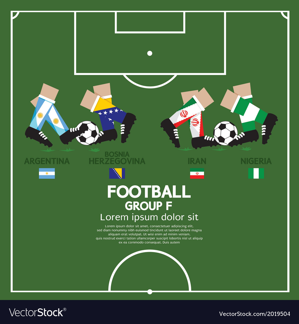 Group f 2014 football tournament vector | Price: 1 Credit (USD $1)