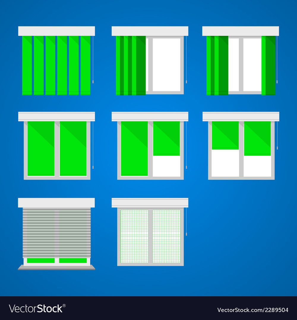 Icons for windows and louvers vector | Price: 1 Credit (USD $1)