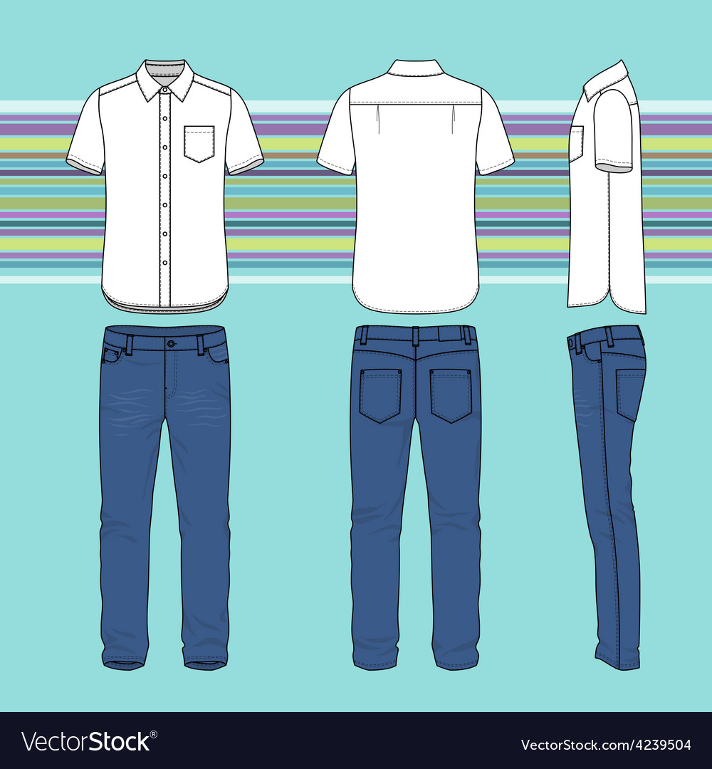 Mens clothing set vector   Price: 1 Credit (USD $1)