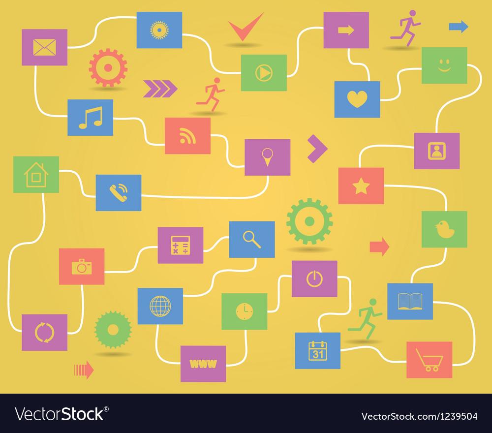 Social media elements vector | Price: 1 Credit (USD $1)