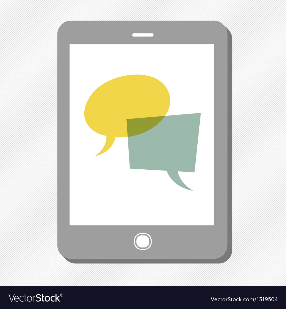 Tablet chat vector | Price: 1 Credit (USD $1)