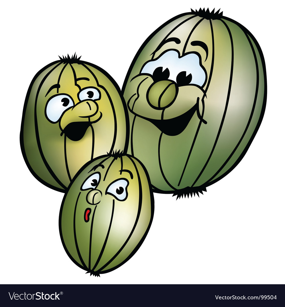 Three smiling gooseberries vector | Price: 1 Credit (USD $1)