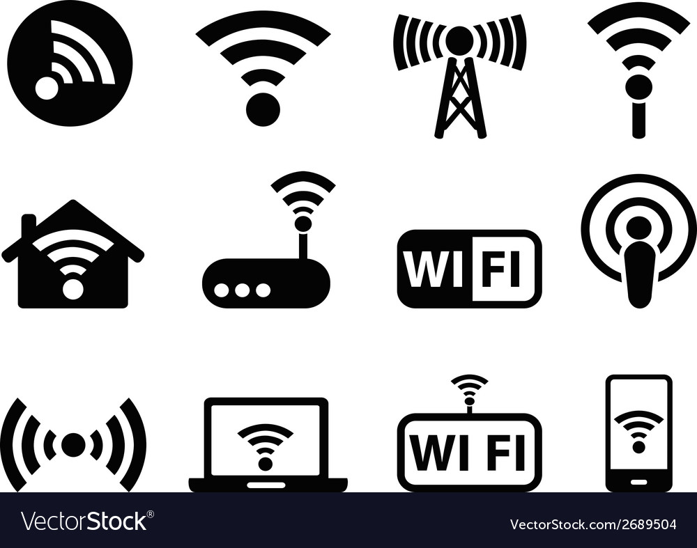 Wifi icons set vector | Price: 1 Credit (USD $1)