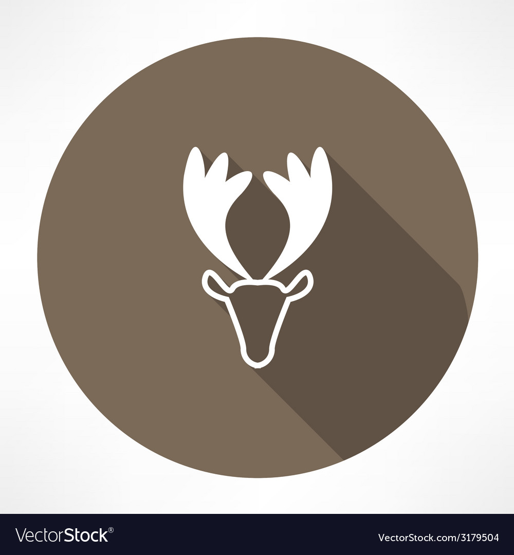 Young deer icon vector | Price: 1 Credit (USD $1)