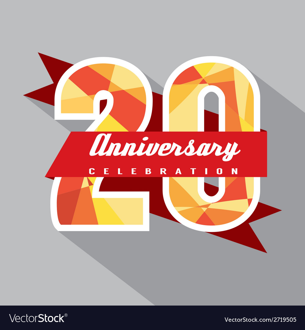 20 years anniversary celebration design vector | Price: 1 Credit (USD $1)