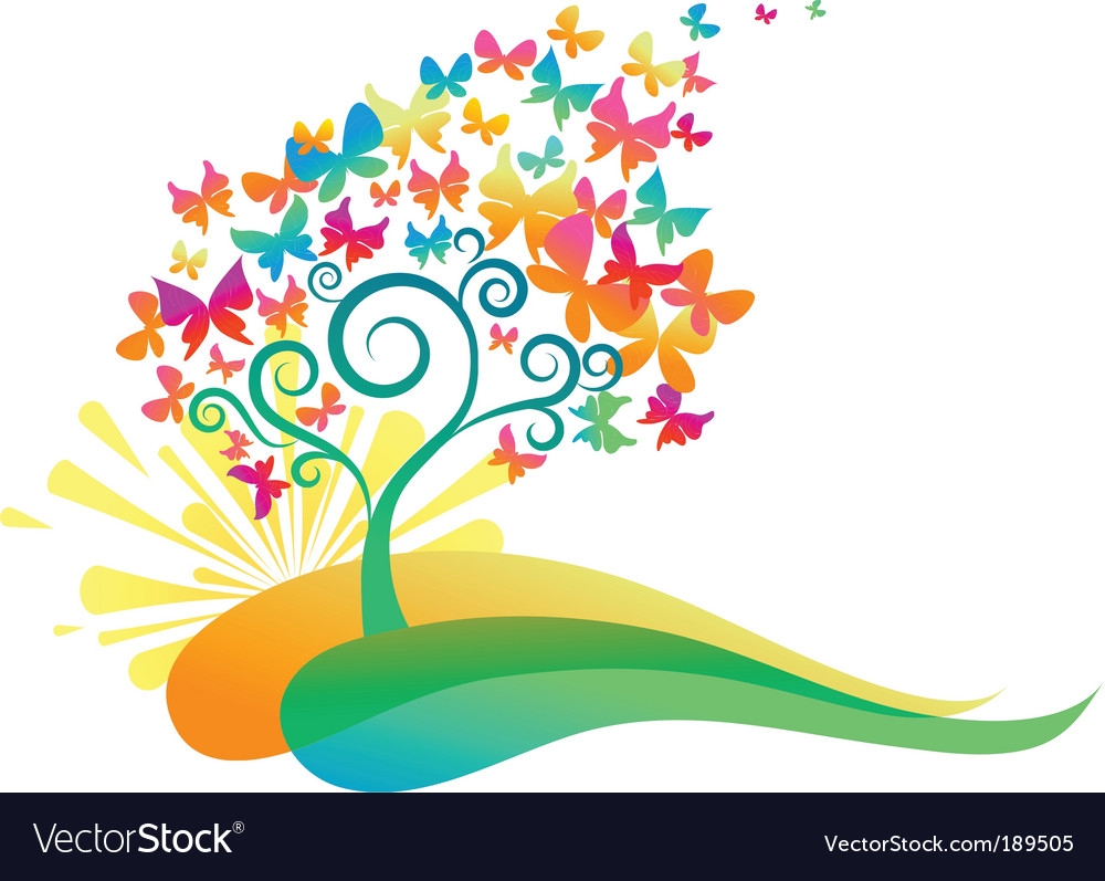 Abstract decorative tree vector | Price: 1 Credit (USD $1)
