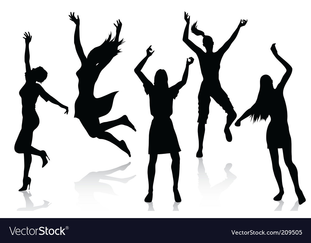Active women silhouettes vector | Price: 1 Credit (USD $1)