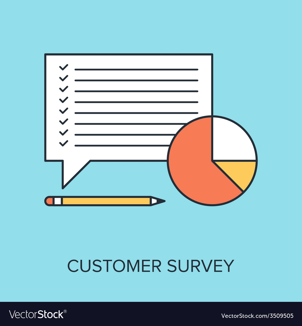 Customer survey vector | Price: 1 Credit (USD $1)