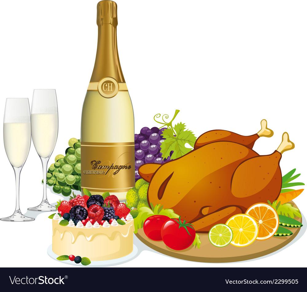 Festive feast vector | Price: 1 Credit (USD $1)