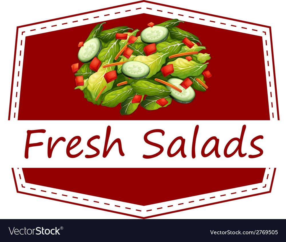 Fresh salads vector | Price: 1 Credit (USD $1)