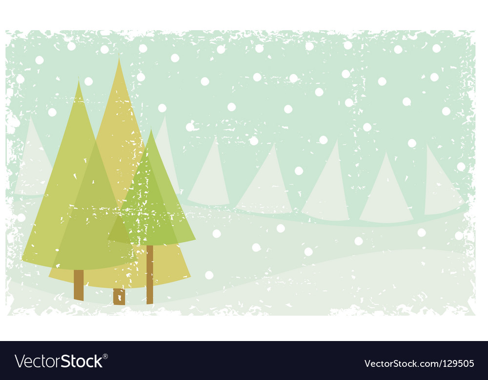 Grunge winter card vector | Price: 1 Credit (USD $1)