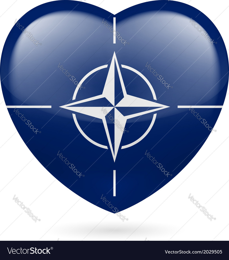 Heart icon of nato vector | Price: 1 Credit (USD $1)