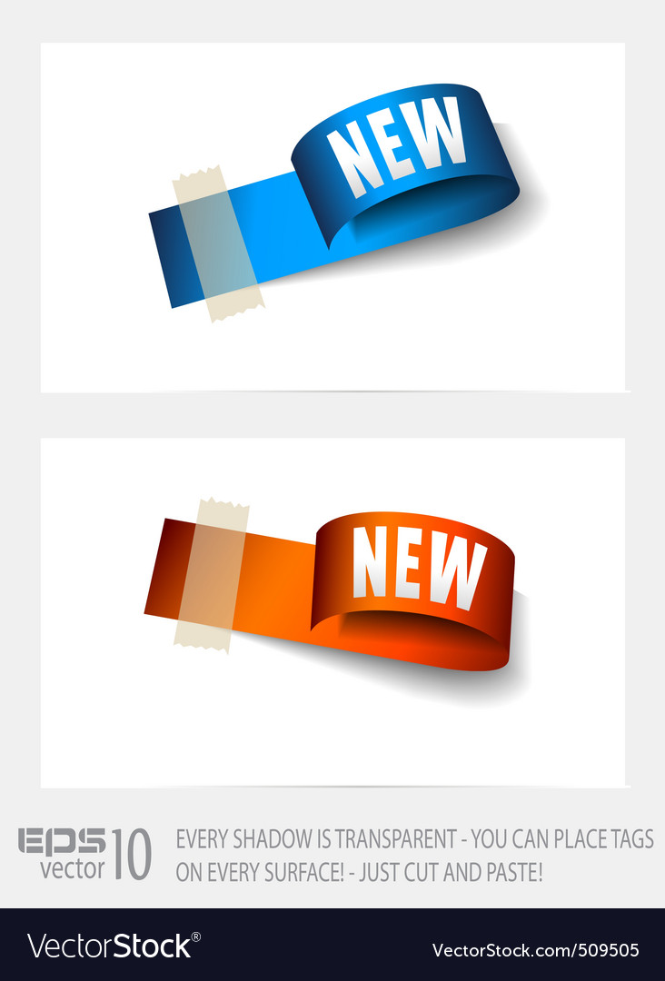 Paper tags vector | Price: 1 Credit (USD $1)