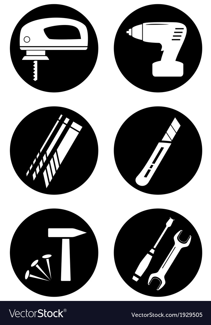 Set tools for home work vector | Price: 1 Credit (USD $1)