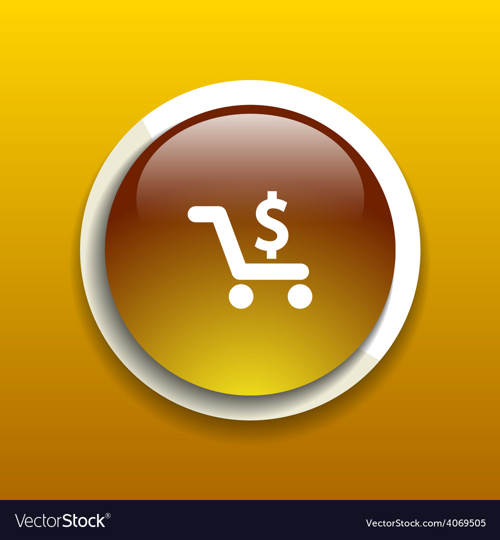 Shopping cart symbol on backgroundclean icon vector   Price: 1 Credit (USD $1)