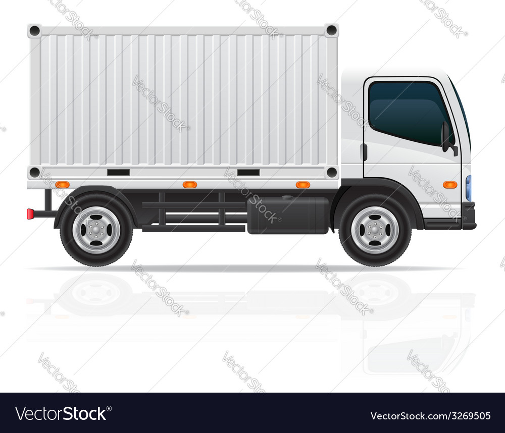 Small truck 04 vector | Price: 3 Credit (USD $3)