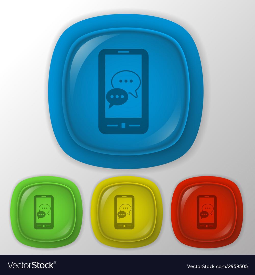 Smartphon cloud of speaking dialogue vector | Price: 1 Credit (USD $1)