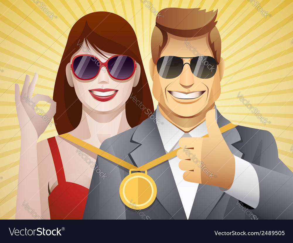 Team of winners vector | Price: 1 Credit (USD $1)