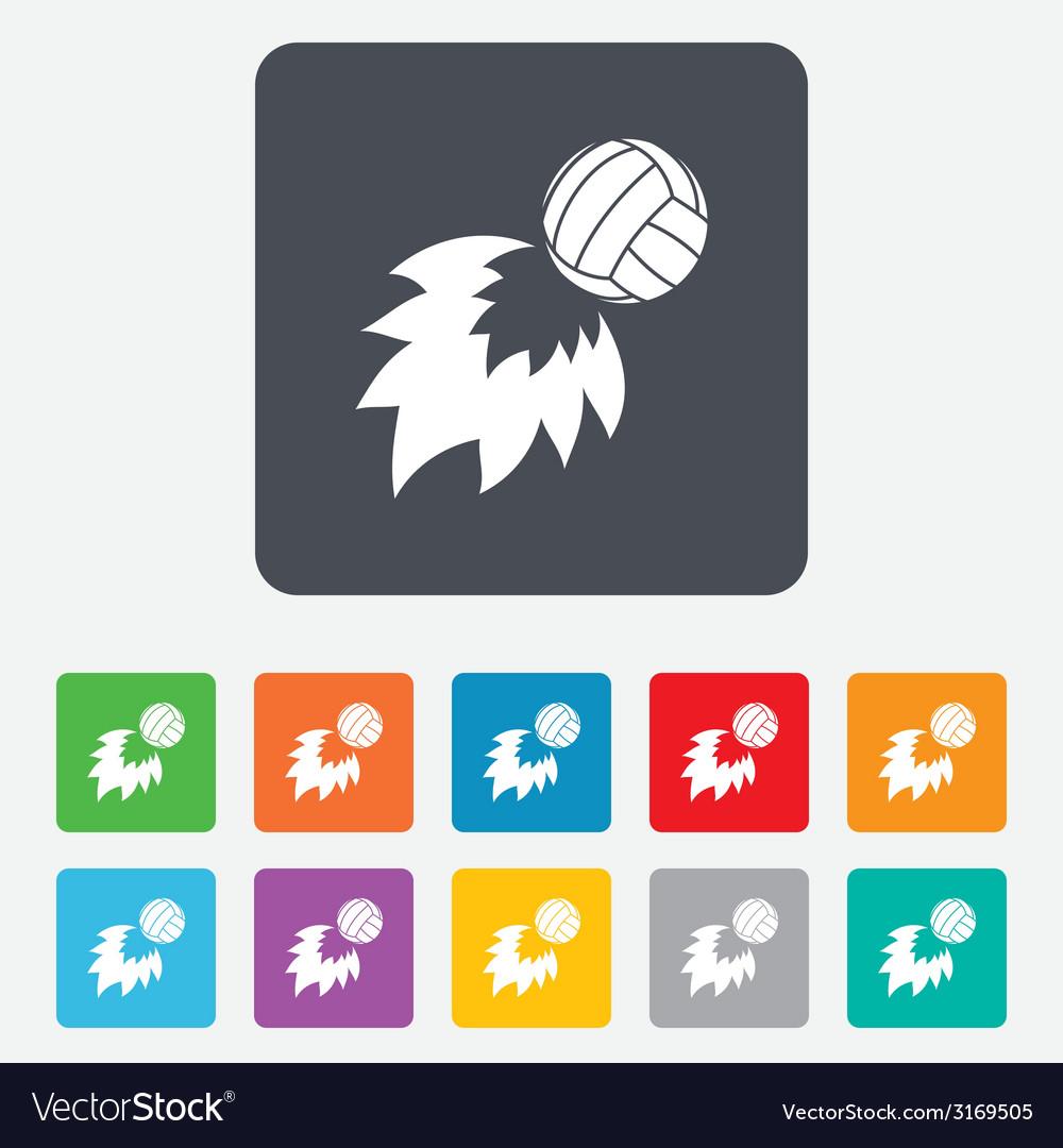 Volleyball fireball icon beach sport symbol vector   Price: 1 Credit (USD $1)