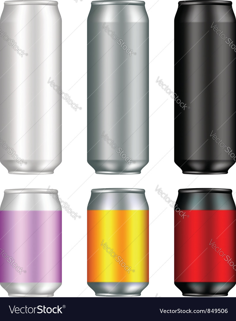 Aluminum can templates vector | Price: 1 Credit (USD $1)