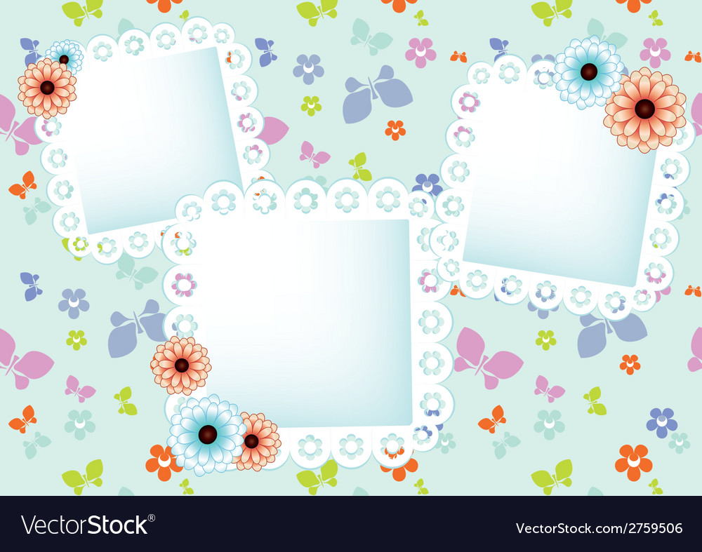 Background with lace frames vector | Price: 1 Credit (USD $1)