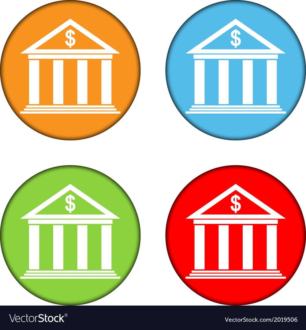 Bank button set vector | Price: 1 Credit (USD $1)