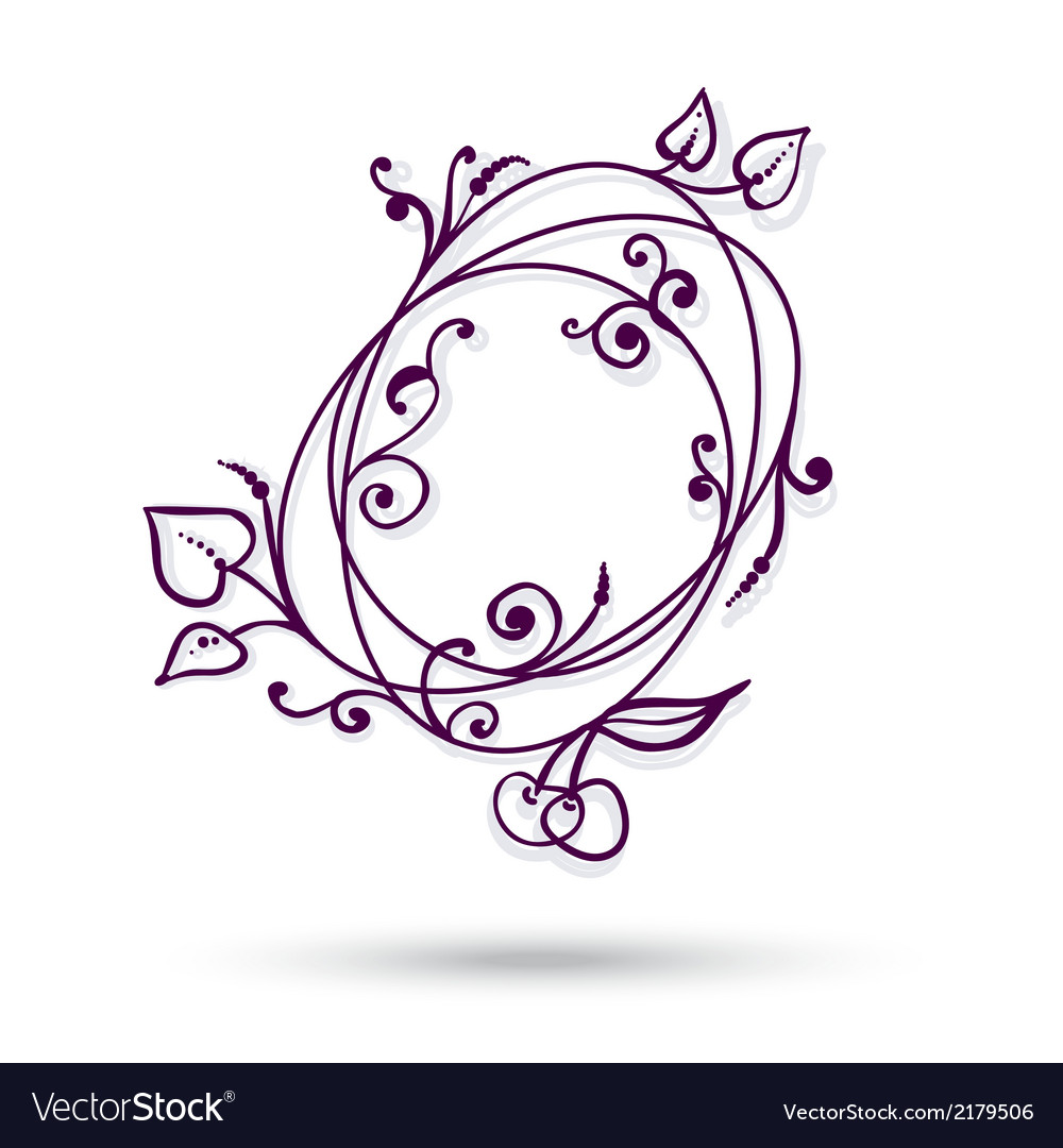 Circle with apples leaves design element vector | Price: 1 Credit (USD $1)