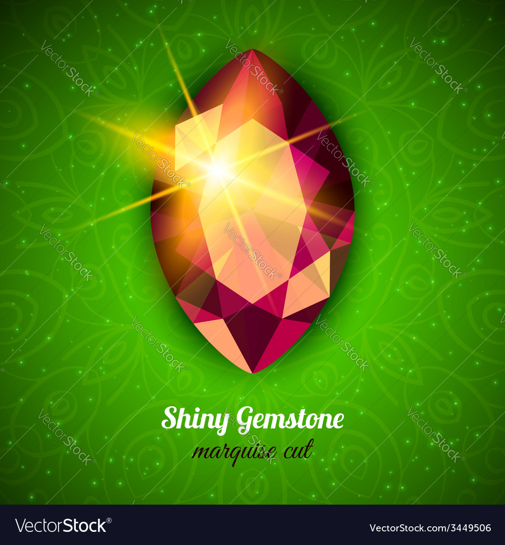 Gemstone on dark background vector | Price: 3 Credit (USD $3)