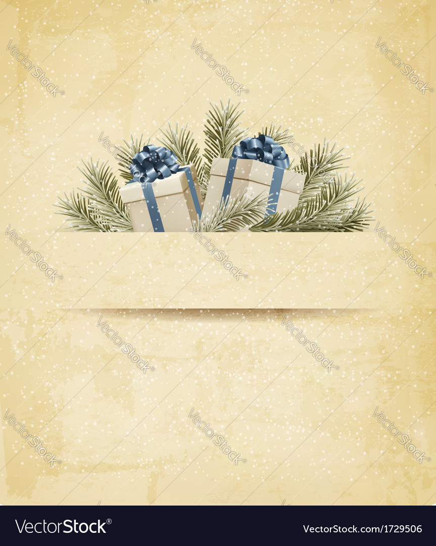 Holiday background with gift ribbon with gift box vector | Price: 1 Credit (USD $1)