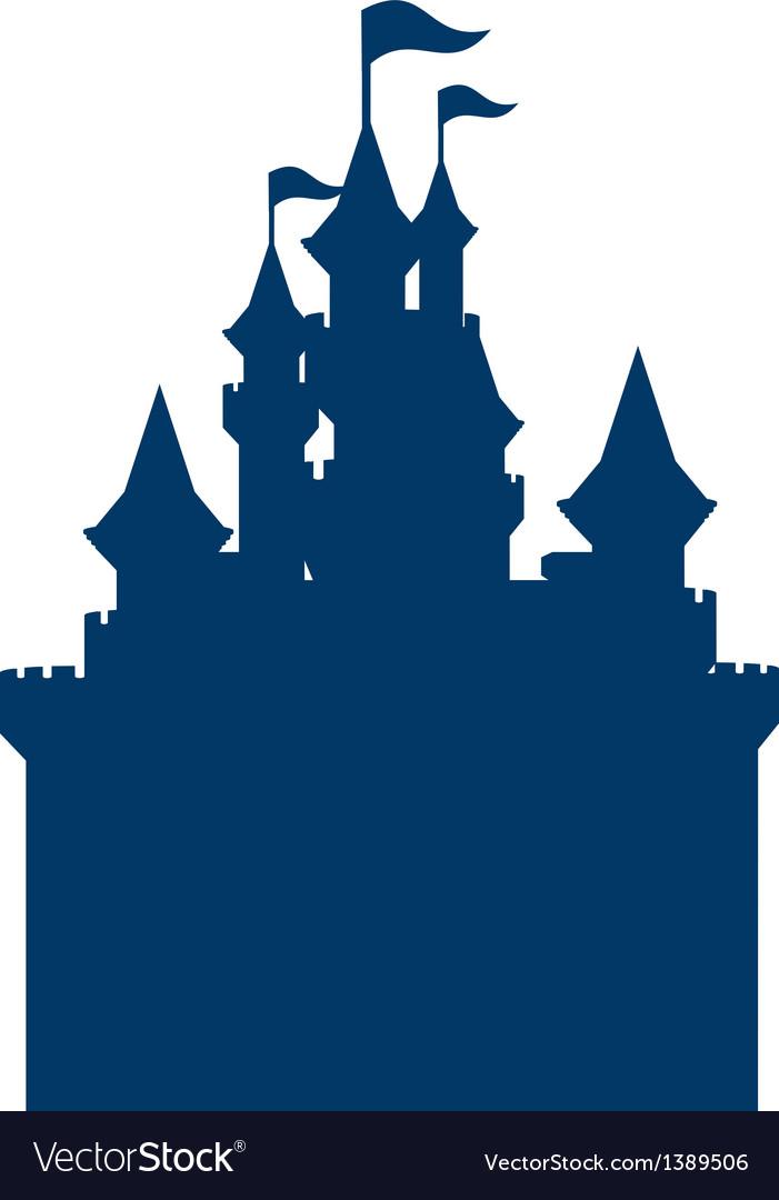 Icon castle silhouette vector | Price: 1 Credit (USD $1)
