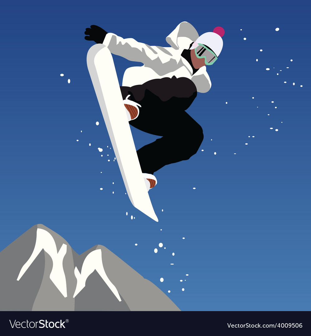 Jumping snowboarder vector | Price: 1 Credit (USD $1)