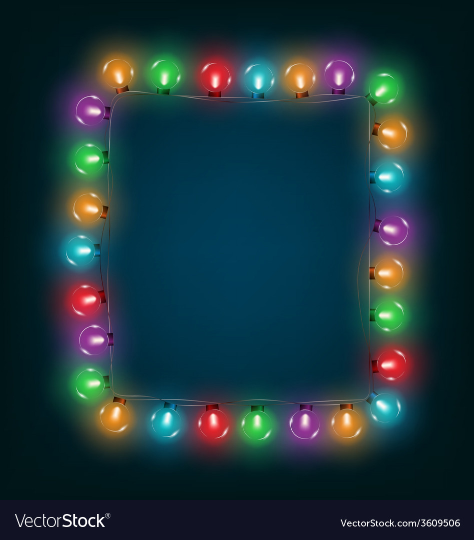 Multicolored glassy led christmas lights garland vector | Price: 1 Credit (USD $1)