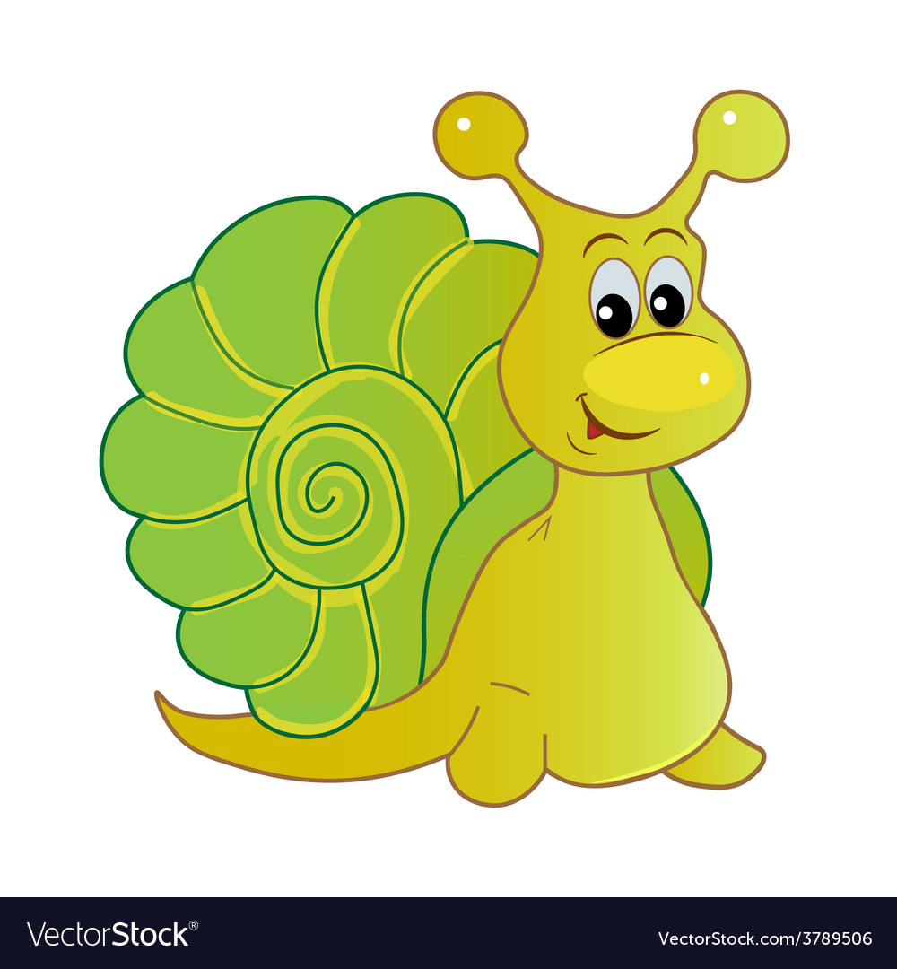 Smiling snail cartoon vector | Price: 1 Credit (USD $1)