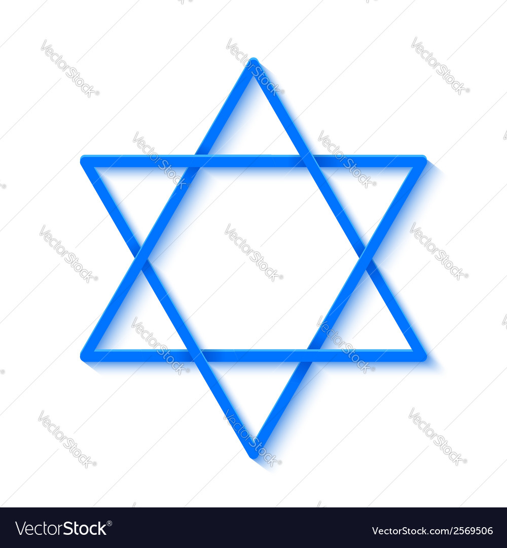 Star of david isolated on white background vector | Price: 1 Credit (USD $1)