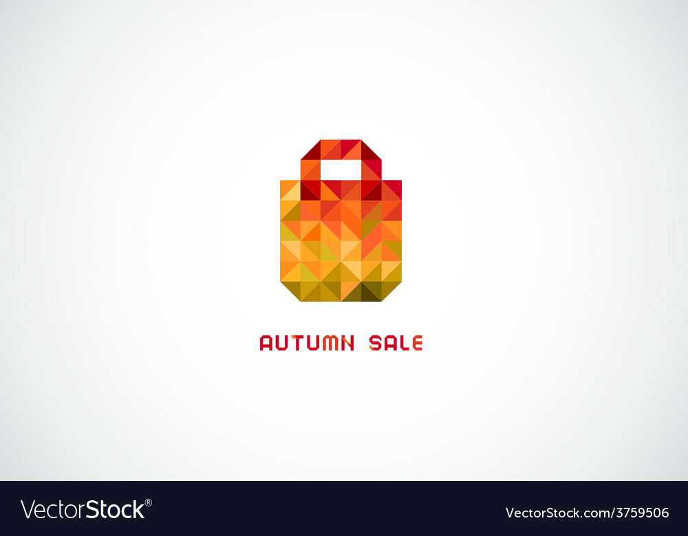 Stylized bag from triangles for autumn sale vector | Price: 1 Credit (USD $1)