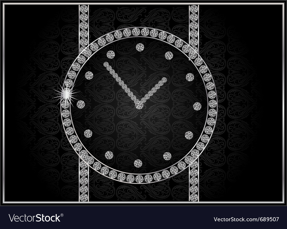 Abstract diamond watch vector | Price: 1 Credit (USD $1)