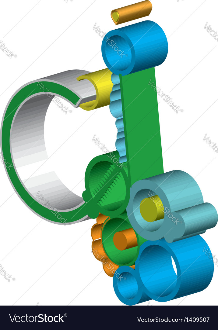 Abstract gear wheels vector | Price: 1 Credit (USD $1)
