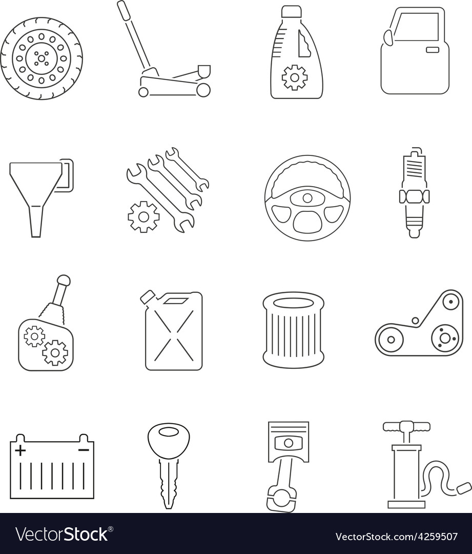 Auto service icons set vector | Price: 1 Credit (USD $1)