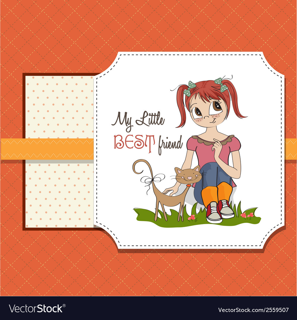 Best friends vector | Price: 1 Credit (USD $1)