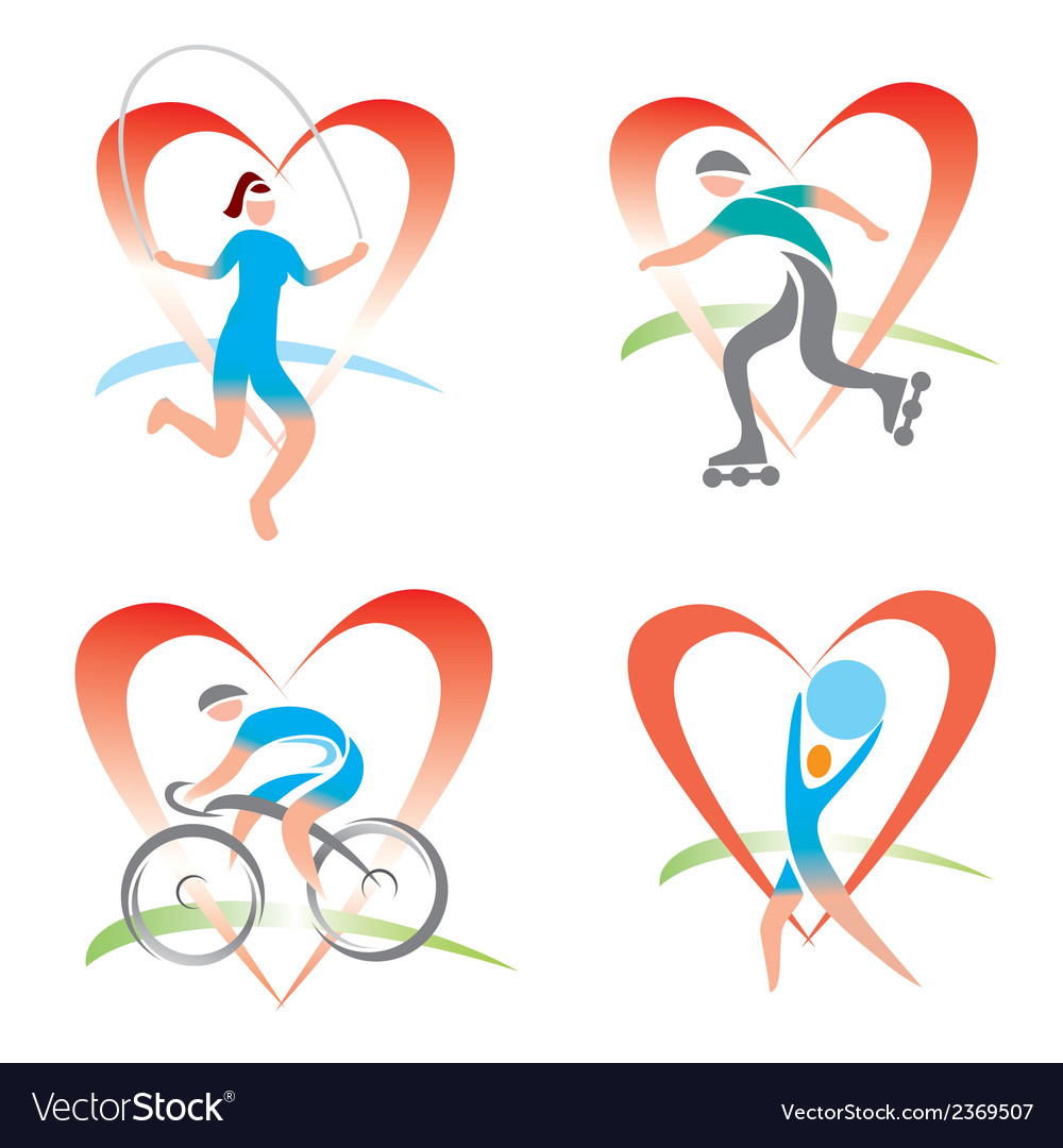 Icons i love fitness vector | Price: 1 Credit (USD $1)