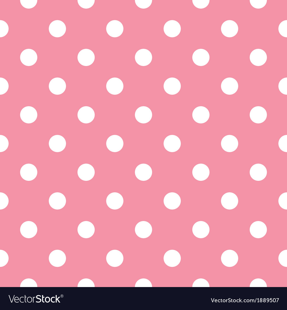 Pink polka dot seamless pattern design vector | Price: 1 Credit (USD $1)