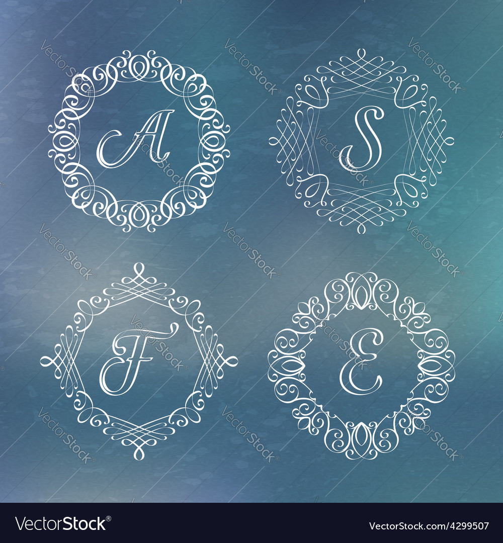 Round calligraphic frame vector | Price: 1 Credit (USD $1)