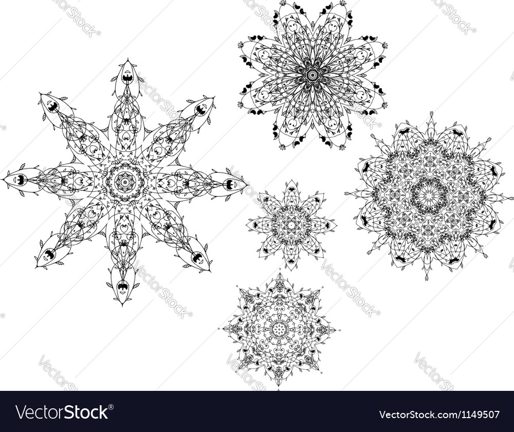 Set of arabesque ornament for your design vector | Price: 1 Credit (USD $1)