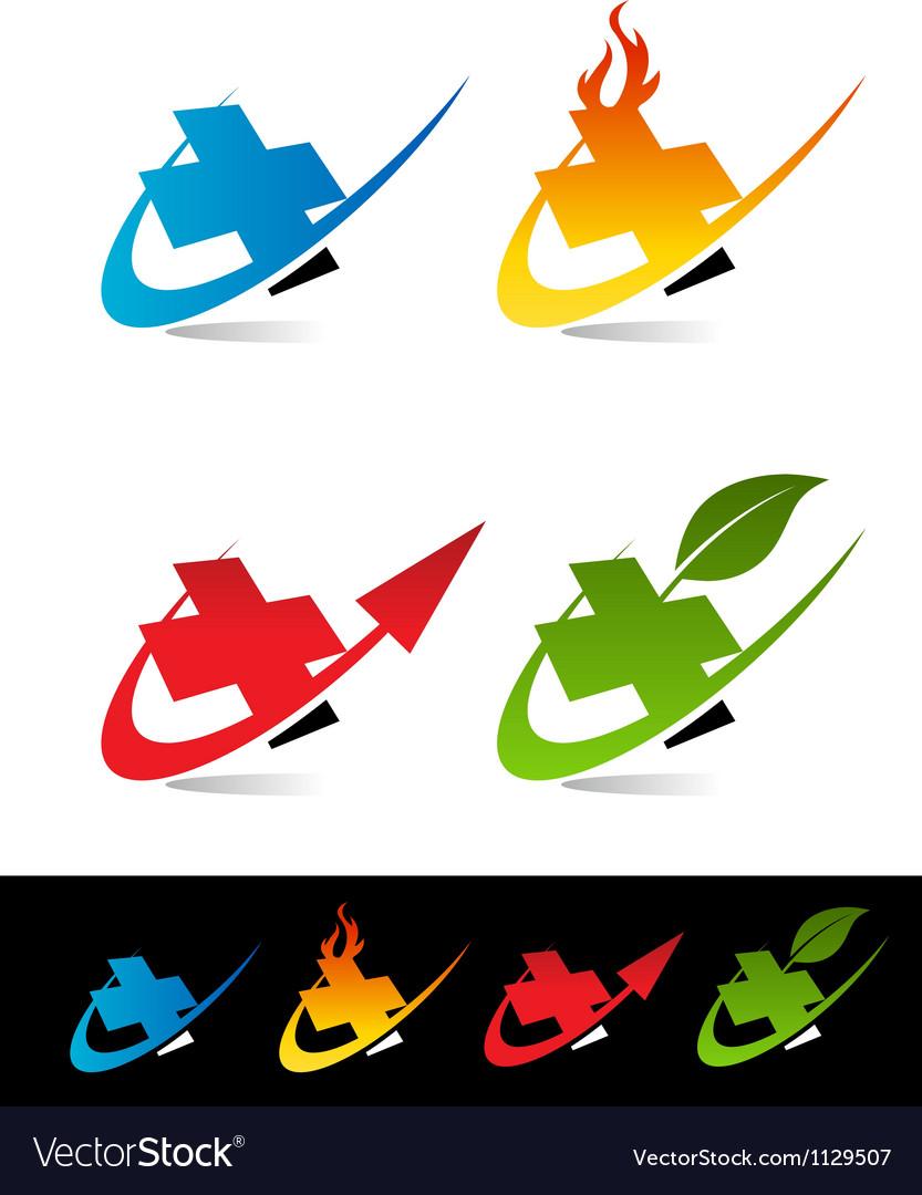 Swoosh medical cross logo icons vector   Price: 1 Credit (USD $1)