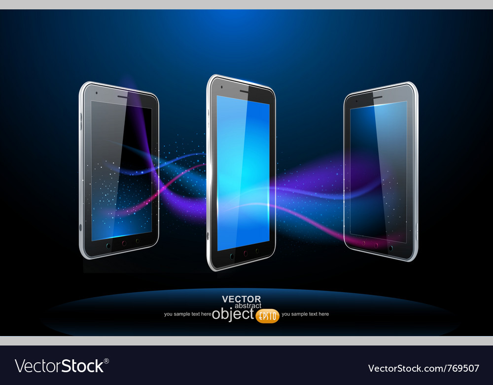 Three smartphones vector | Price: 3 Credit (USD $3)