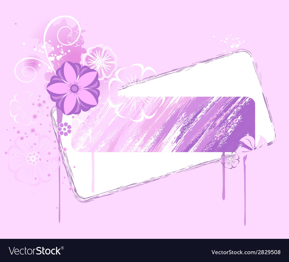 Banner painted pink paint vector | Price: 1 Credit (USD $1)